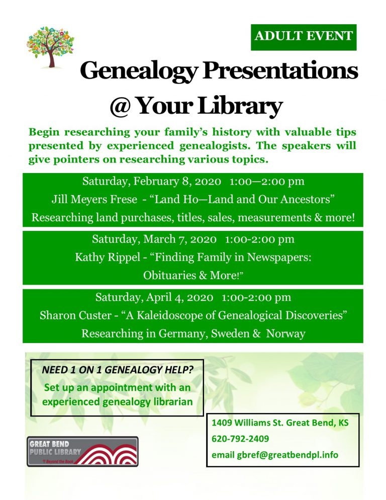 Genealogy @ your Library