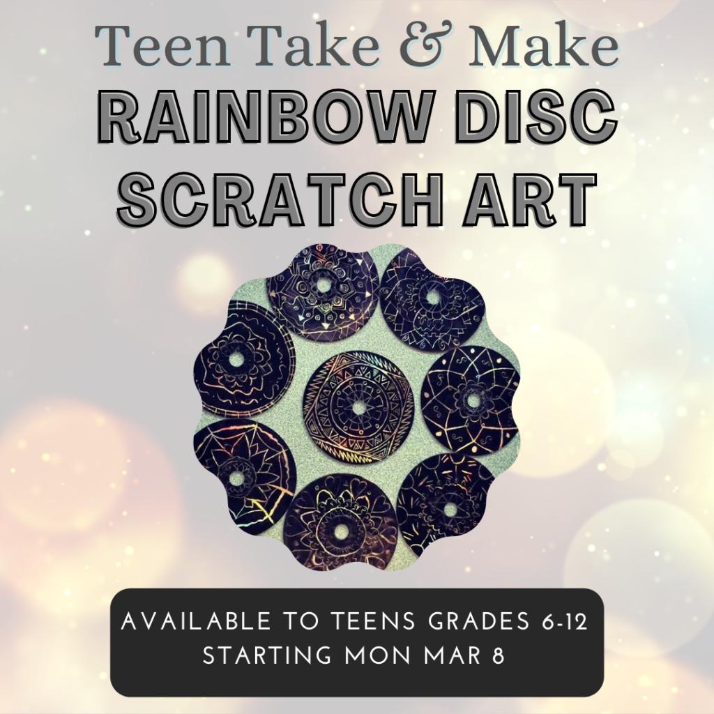 March 2021 Rainbow Disc Scratch Art