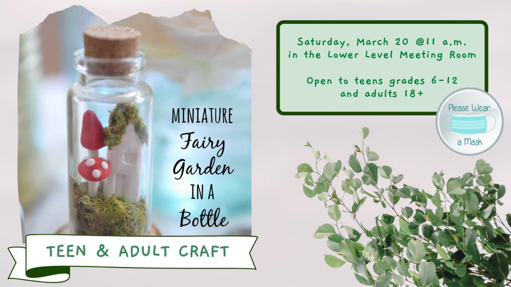 Teen & Adult Craft Mini Fairy Garden Bottles Web Version