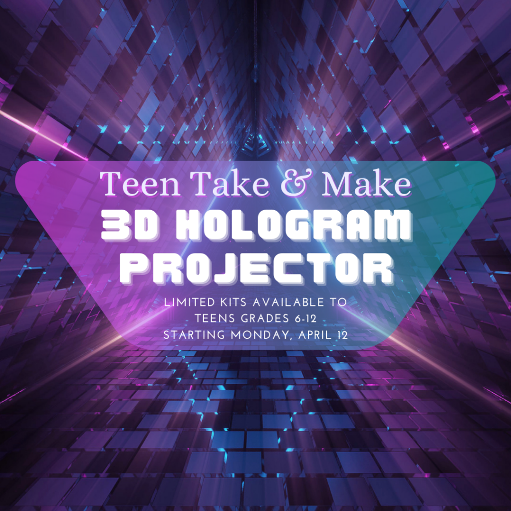 Teen Take & Make 3D Hologram Projector