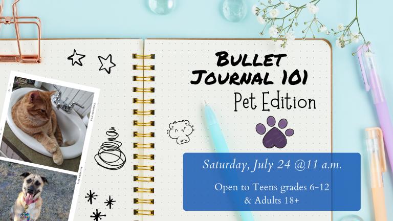 June & July SLP 2021 Bullet Journal 101 Pet Edition