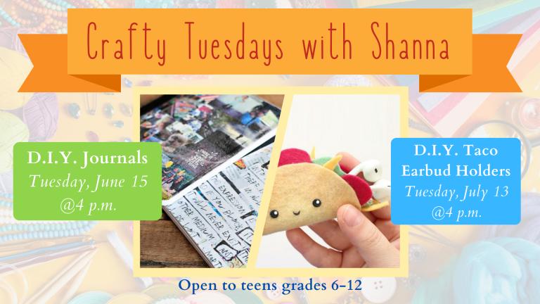 June & July SLP 2021 Crafty Tuesdays with Shanna
